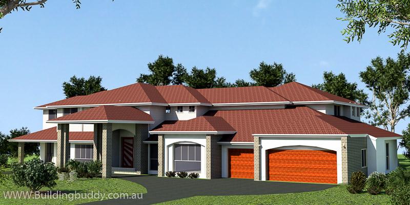 Retreat Highset, Acreage Lot House Plan