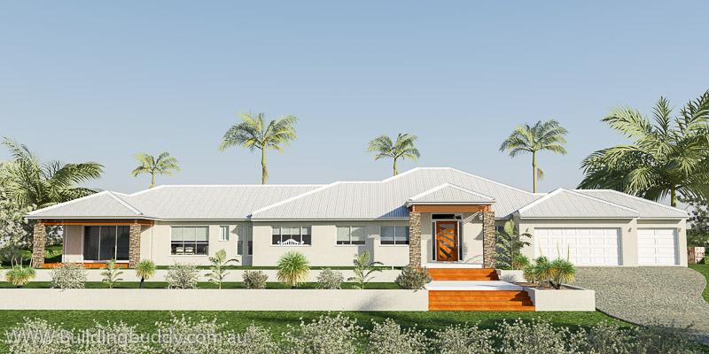 Retreat Lowset Duplex House Plan