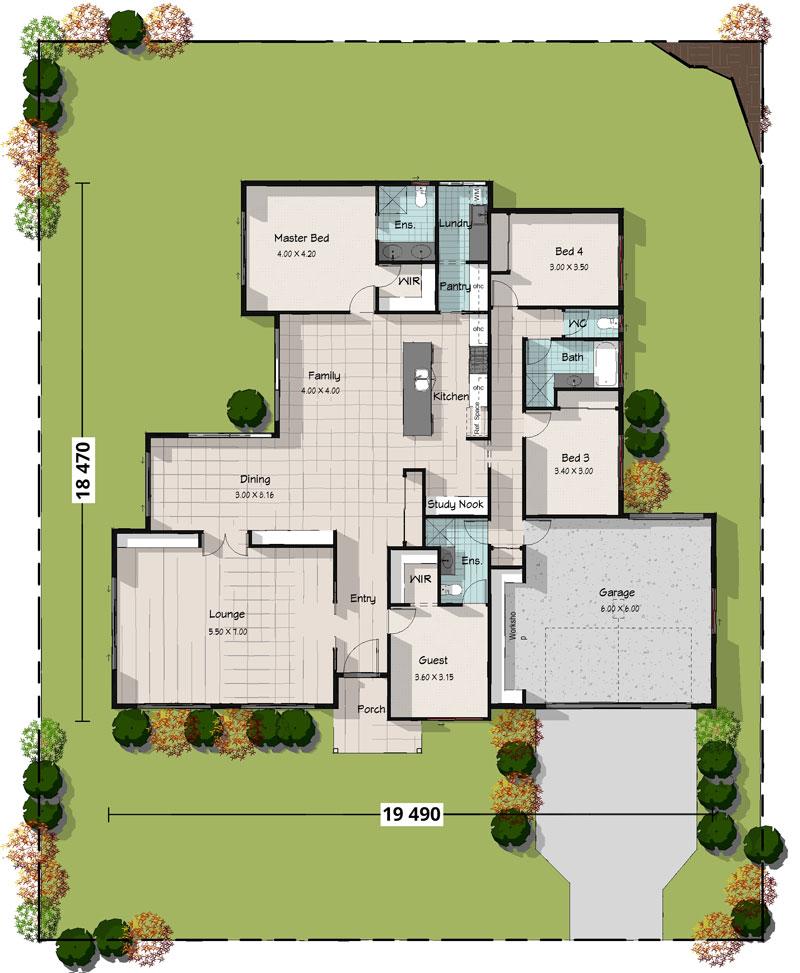 Bronzewing, Lowset Floorplan