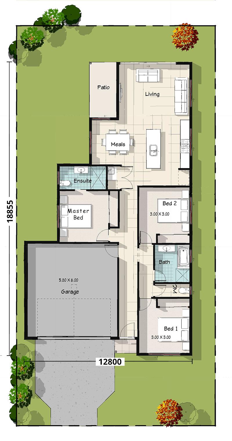 Willie Wagtail Floorplan