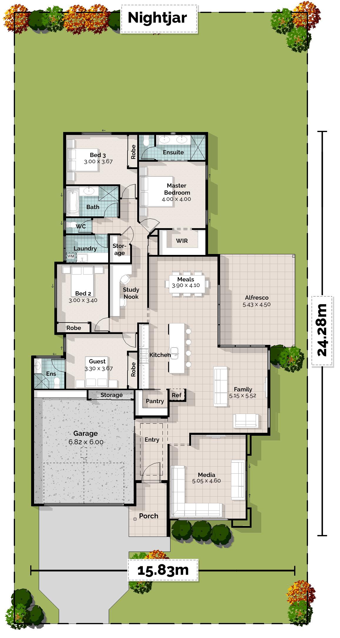 Nightjar Lowset House Plan