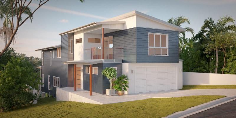 Goshawk, Sloping Lot House Plan