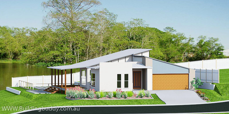 Bolero, Sloping Lot House Plan
