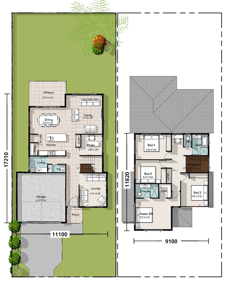 Cockatiel, Two Storey House Plan