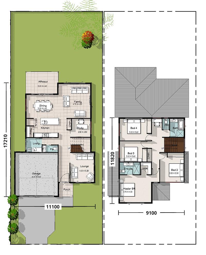 Cockatiel, Two Storey House Plan