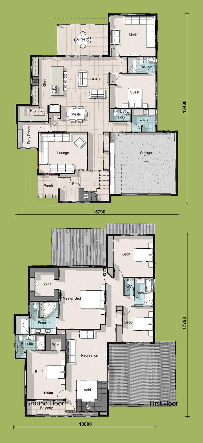 Empress, Two Storey House Plan
