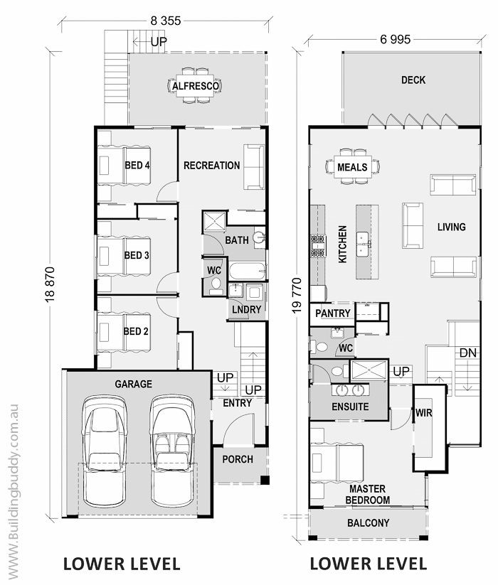 House plans home designs building prices builders for Sloped lot house plans