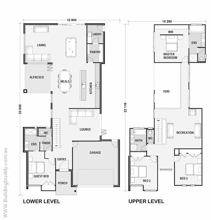 Tranquility two storey house plan connecting customers for Highset house plans