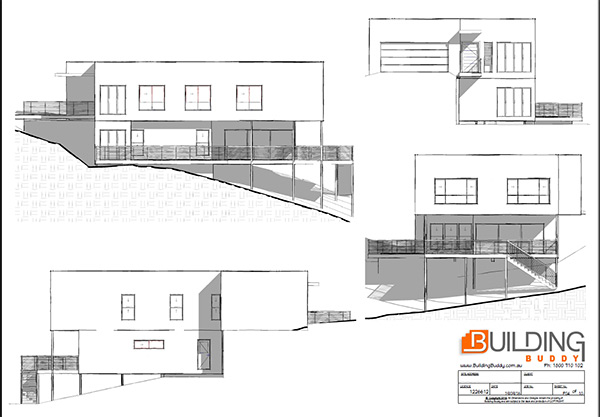 Sloping lot house plans building buddy free custom for Building a garage on a sloped lot