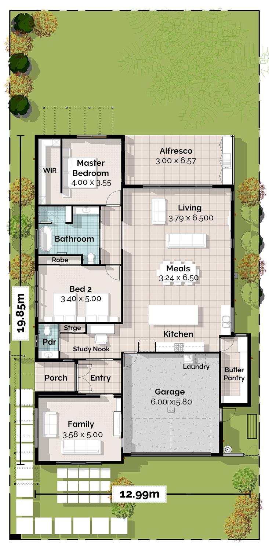 Sherwood Lowset House Plan