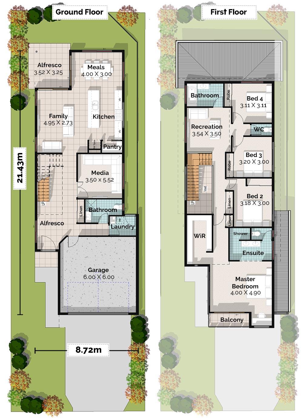 Heron, Two Storey House Plan