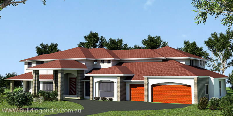 Retreat Highset, Acreage Lot House Plan