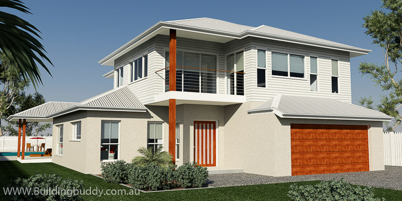 Brushbox, Duplex Lot House Plan