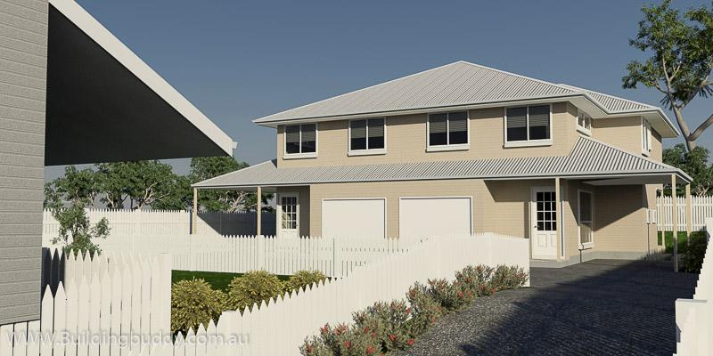 William Street, Duplex House Plan