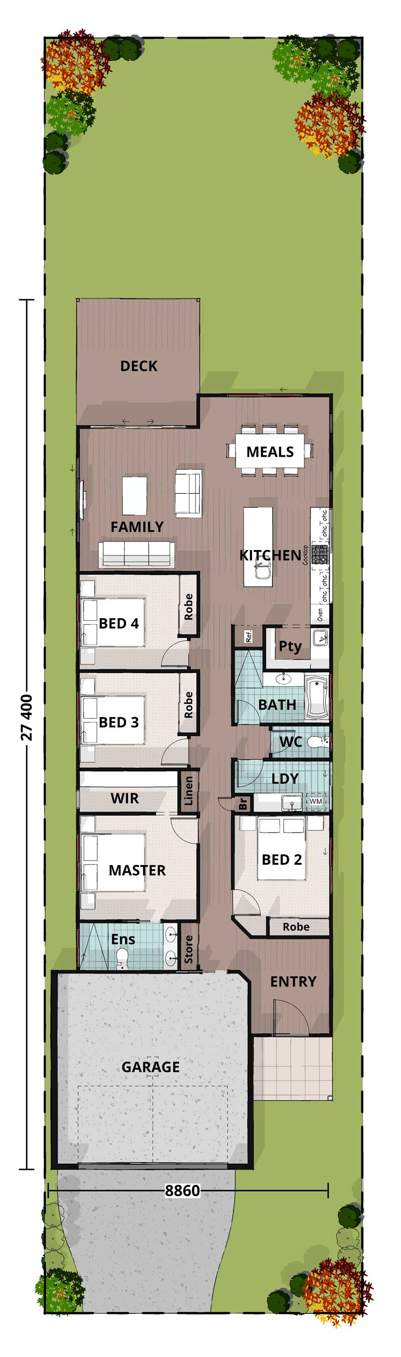 Budgerigar, Lowset Floorplan