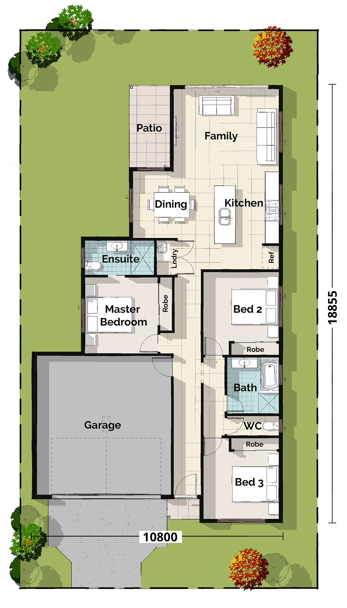 Willie Wagtail Floorplan