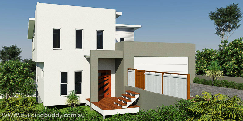 Blackbutt, Sloping Lot House Plan