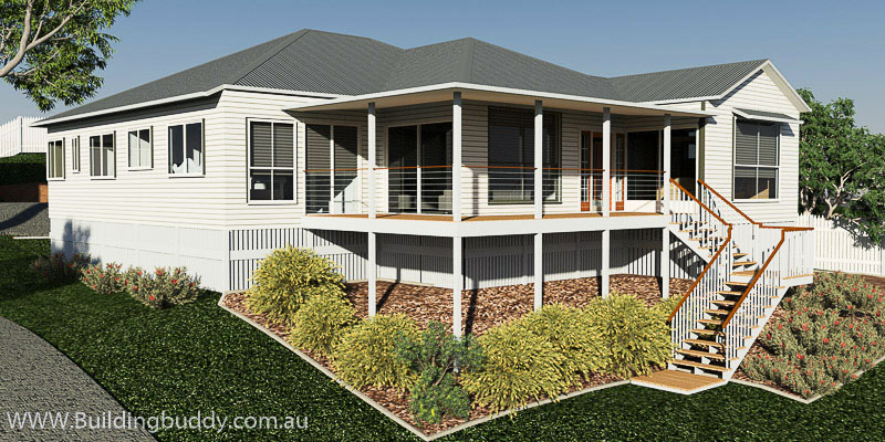 Featherwood, Sloping Lot House Plan