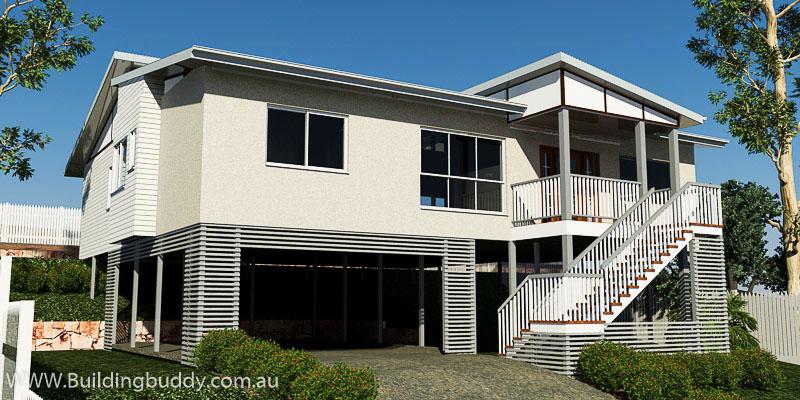 Paperbark, Sloping Lot House Plan