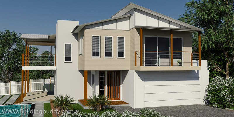 Myrtle, Sloping Lot House Plan