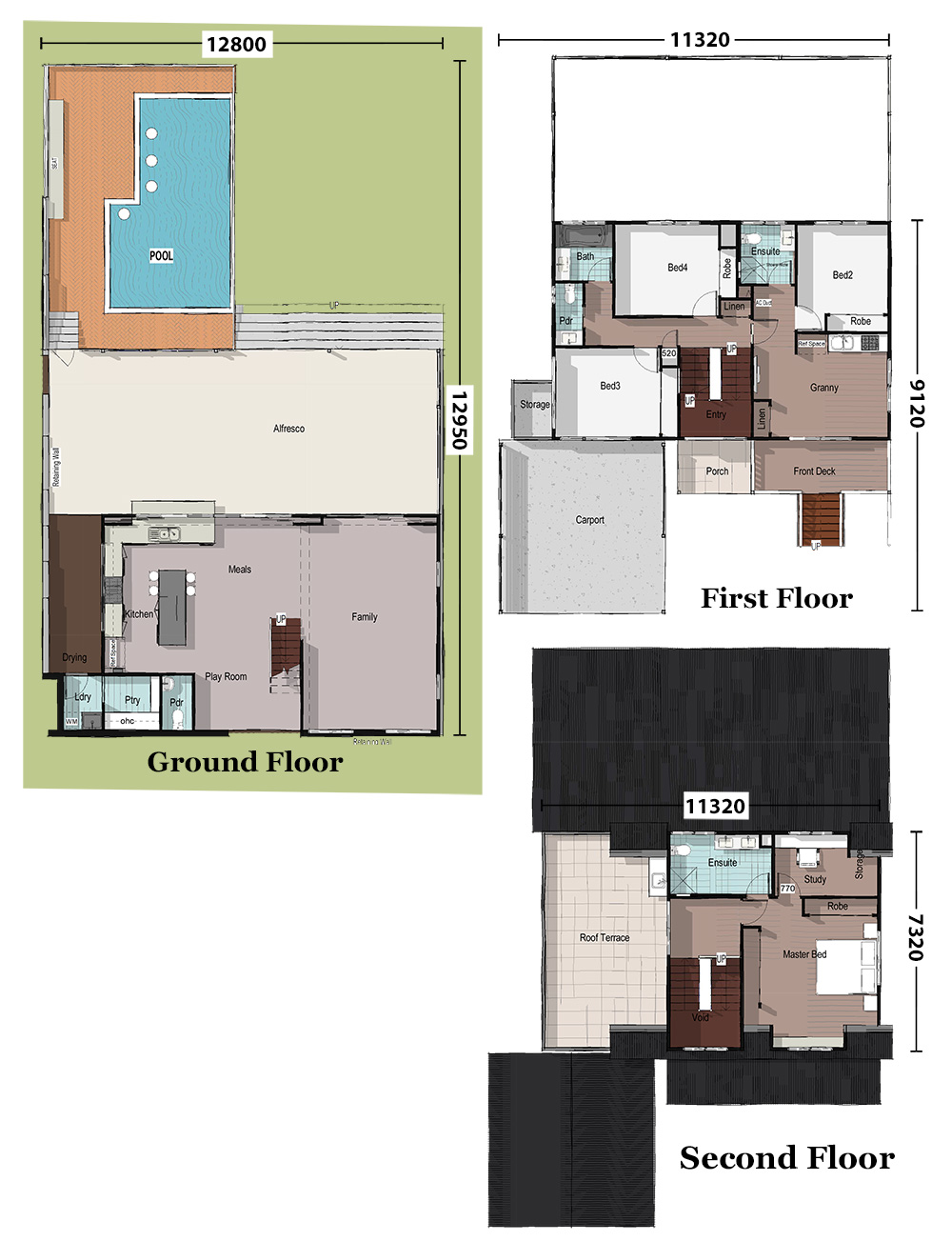 Blue Gum, Floorplan